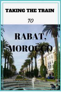 TAKING THE TRAIN TO RABAT, MOROCCO